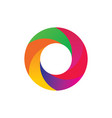 circle round 3d colored logo vector image