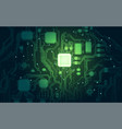 green electronic vector image