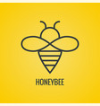 icon honey bees vector image