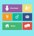 icons colorful buttons on mobile application vector image