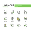 Mammals - line design icons set vector image