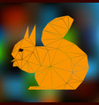 orange squirrel abstract silhouette of triangles vector image