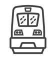 train line icon transport and vehicle locomotive vector image
