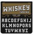 Whiskey label font and sample label design vector image