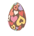 easter eggs happy easter vector image vector image