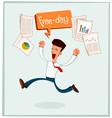 businessman getting his free time vector image vector image