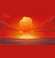 nuclear explosion composition vector image vector image