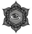 tattoo mandala with eye vector image