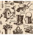 Sketch gardening seamless pattern vector image vector image