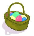 easter pixel basket vector image vector image