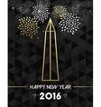 New Year 2016 washington USA travel monument gold vector image