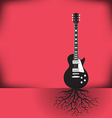 Guitar roots red vector image vector image