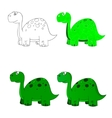 dino set icon 2 vector image