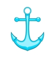 Anchor icon in cartoon style vector image