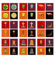 assembly flat icons halloween zombie hand grave vector image