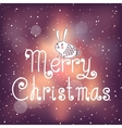 Bright Christmas card with bunny vector image