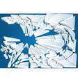 broken ice on blue water vector image