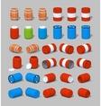 Cube World Barrels vector image