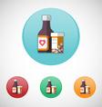 Mixture solution bottles icon set vector image