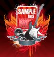 musical theme with guitar vector image