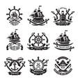 pirate skull corsair ships symbols of piracy vector image