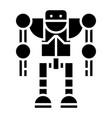 Robot - droid icon black vector image