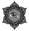 tattoo mandala with eye vector image