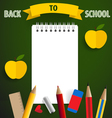 Welcome back to school with paper note vector image