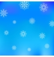 Christmas White Snowflake Pattern on Blue vector image