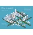Transportation 3D city vector image vector image