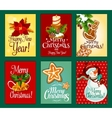 Christmas and New Year card set for holiday design vector image vector image