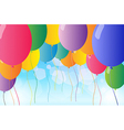 Colorful flying balloons vector image