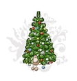 Christmas tree sketch for your design vector image vector image