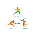 Table Tennis Badminton Icon vector image