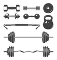 Set of sign weights for fitness or gym design vector image