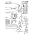 Sketch of the old cars vector image