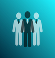 businessman team icon vector image