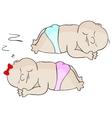 Sleeping babies vector image