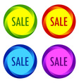 Set of unusual Sale labels vector image vector image
