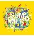 Summer sale floral frame for your design vector image vector image