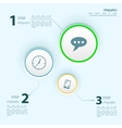 Blank white web buttons for website or app vector image