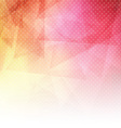 Abstract background with low poly design vector image