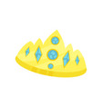 golden princess crown accessory for a little vector image