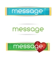 Minimal and clear colored bannes set vector image