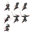 Ninja Jumping Game Sprite vector image