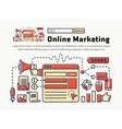 Online Marketing Icons and Symbols vector image