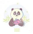 Panda and tea vector image
