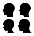 People Profile Head Silhouettes Set vector image