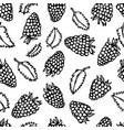 raspberry and mint leaves doodle style vector image