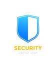 security concept shield icon vector image